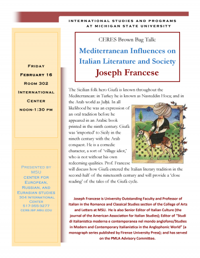 Mediterranean Influences on Italian Literature and Society 2-16-17.png